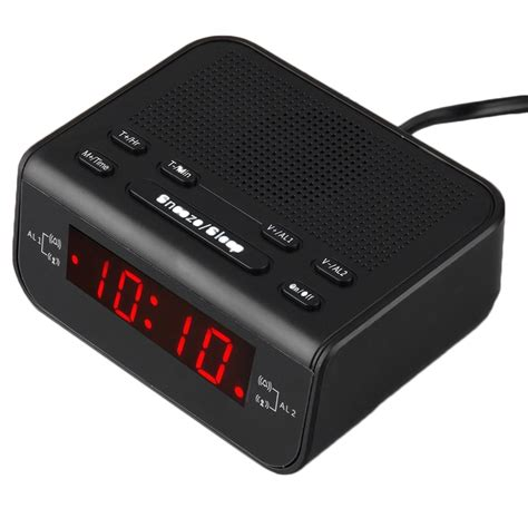 digital fm alarm clock radio with dual alarm sleep timer led time display eh ebay