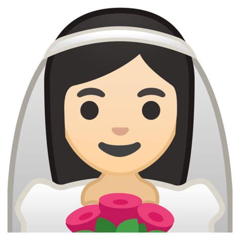 braut emoji novia con velo tono de piel claro emoji