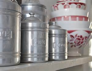 vintage kitchen canister set vintage kitchen canister set by petitsdetails on etsy
