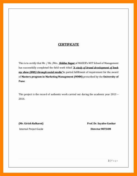 Study Certificate Letter Writing 9 Study Certificate Sle Resumes Great