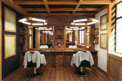 stylish barber shop interior design ideas
