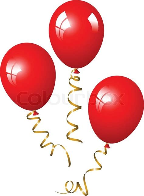 Design In Home Decoration by Red Balloons Stock Vector Colourbox