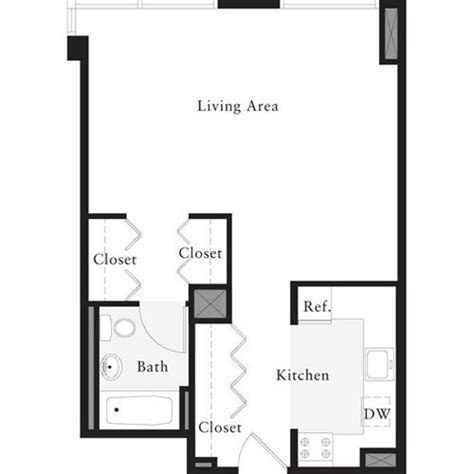 studio 54 floor plan archstone west 54th 505 west 54th street manhattan scout