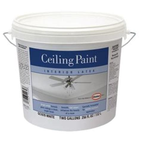 home depot ceiling paint glidden 2 gal bright white interior flat ceiling paint