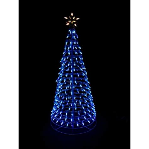 Home Accents Holiday 6 Ft Pre Lit Led Blue Twinkling Tree Led Lighted Tree