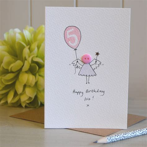 Handmade Birthday Card - personalised button handmade birthday card by