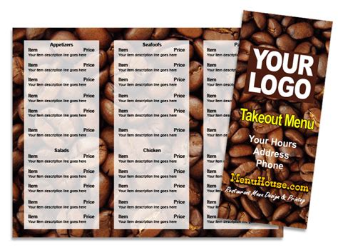 coffee shop menu templates