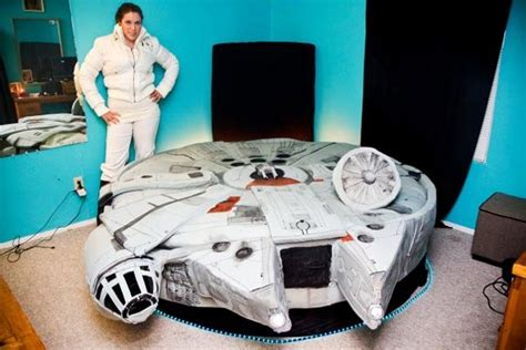 millennium falcon bed bed shaped like the millennium falcon from star wars freshome com