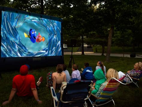 inflatable backyard movie screen outdoor movie screen event rental companies planning