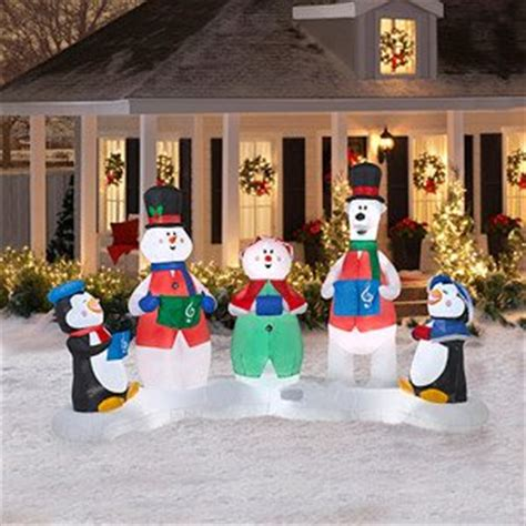christmas decoration lawn yard inflatable carolers musical