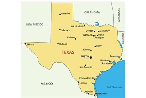 political map of texas with cities texas map blank political texas map with cities