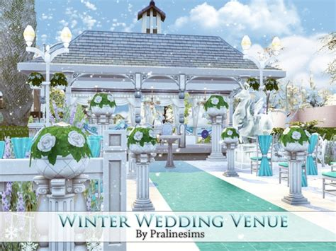 sims 4 wedding pralinesims winter wedding venue sims 4 updates