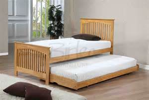 Guest Bed Pull Out Toronto 3ft Single Rubberwood Bed With Pull Out Guest Bed