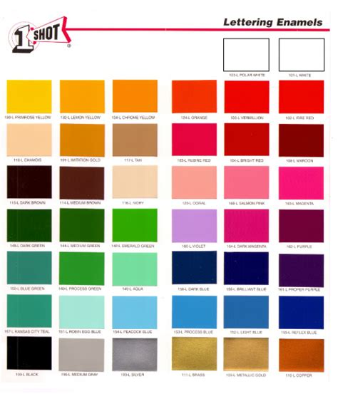 painting color chart