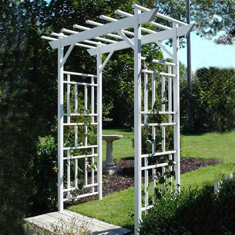 Garden Arbor Lowes by Shop Dura Trel 72 In W X 89 In H White Garden Arbor At