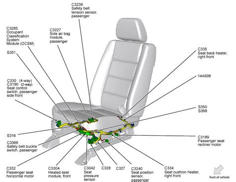 car seat diagram 2008 ford taurus limited heated seats not working