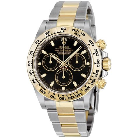 Rollex Gold rolex cosmograph daytona steel and 18k yellow gold oyster