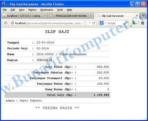 contoh slip gaji format pdf tilan program slip nota gaji karyawan