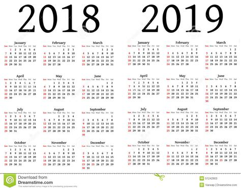 almanac 2018 2019 books calendar for 2018 and 2019 stock illustration image of