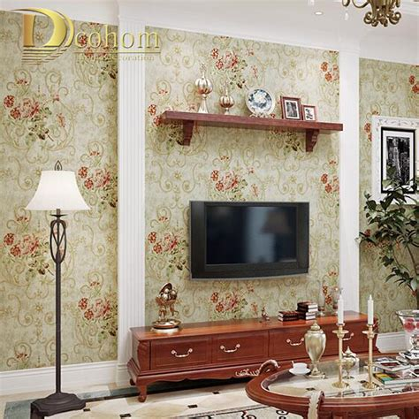 bedroom flower wallpaper american pastoral vintage luxury flower wallpaper bedroom living nurani