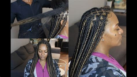 knotless box braids  extremely long hair regular speed slow motion youtube