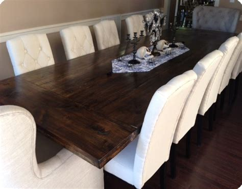 rustic plank dining room table