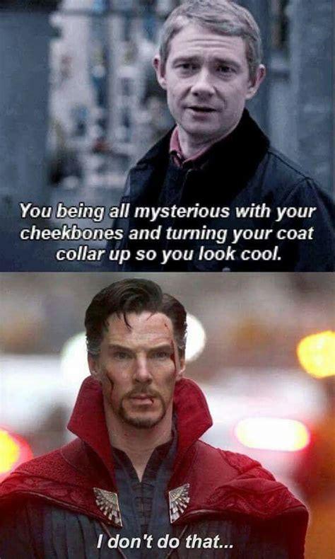 doctor x drama cool doctor strange sherlock memes will never get old d