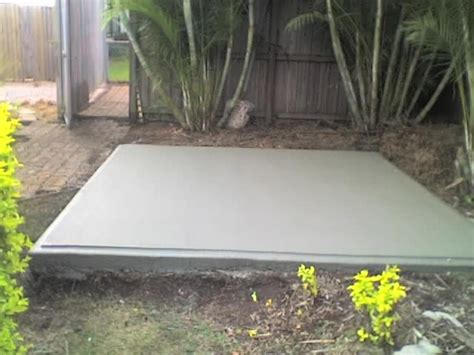 Garden Shed Slab by Concreting Contractors Ipswich Concreter Ipswich