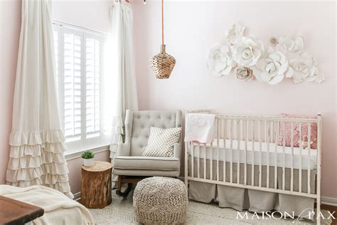 Neutral Nursery Decor Blush Nursery With Neutral Textures Maison De Pax