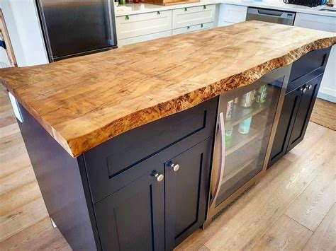 kitchen island maple live edge ambrosia maple kitchen island by barnboardstore