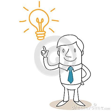 imagenes de inteligente animado hombre de negocios con la bombilla que tiene idea fotos de