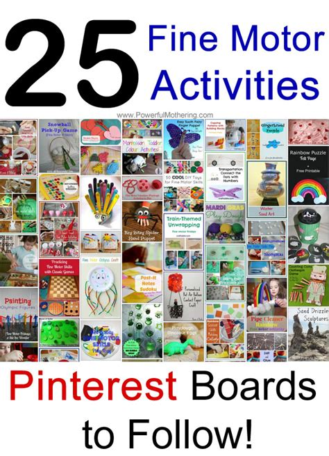 Links To Stalk 25 by 25 Motor Activities Boards To Follow