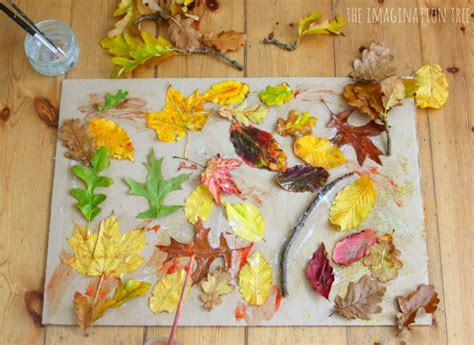 autumn leaf collage the imagination tree