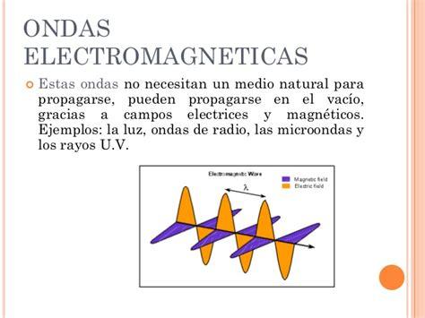 ejemplos de ondas electromagneticas las ondas