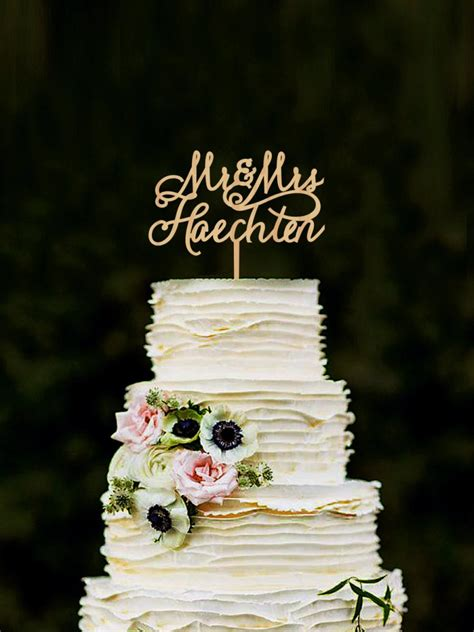Wedding Cake With Name by Last Name Wedding Cake Topper Personalised Mr And Mrs Cake