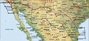 map of us and mexico border map mexico us border
