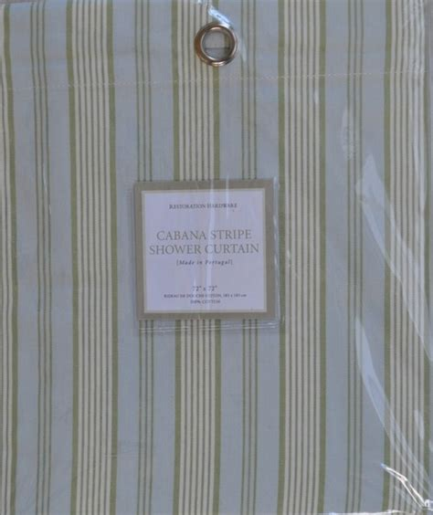 restoration hardware shower curtain restoration hardware cabana shower curtain silver sage new