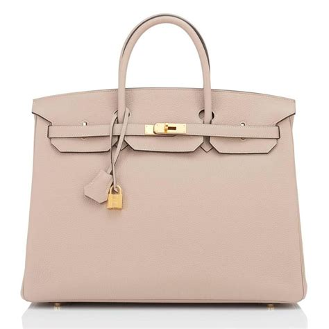 Richards And Hermes Birkin Bag by Hermes Gris Tourterelle 40cm Togo Gold Hardware Superb