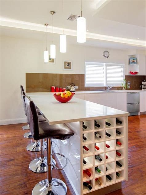 kitchen islands with wine rack how you can incorporate wine racks into your design without wasting space