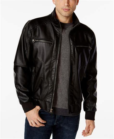 Calvin Klien Leather calvin klein mens faux leather bomber jacket moda