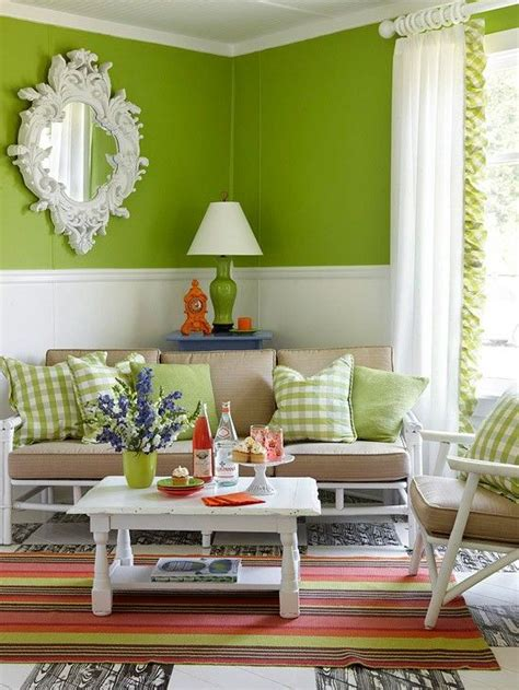 apple green wall rooms