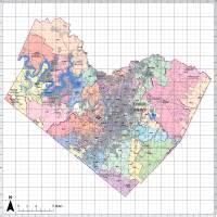 editable travis county map illustrator pdf digital