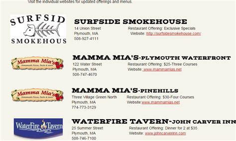 plymouth restaurant week plymouth ma restaurant week 2015 hockomock sw supper
