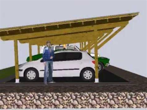 hacer cobertizo para coche dise 241 o de porche para coches el park youtube