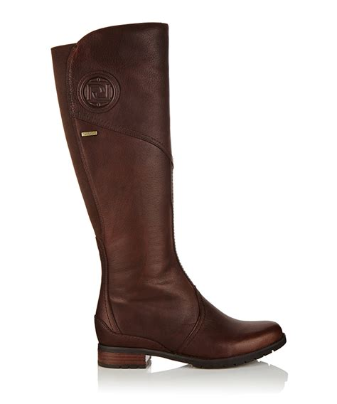 brown leather boots for rockport tristina brown leather boots designer