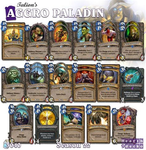 Legendary Paladin Deck by 47 Best Hearthstone Paladin Decks Images On