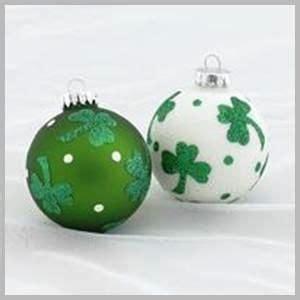 irish christmas ornament set for the love of ireland