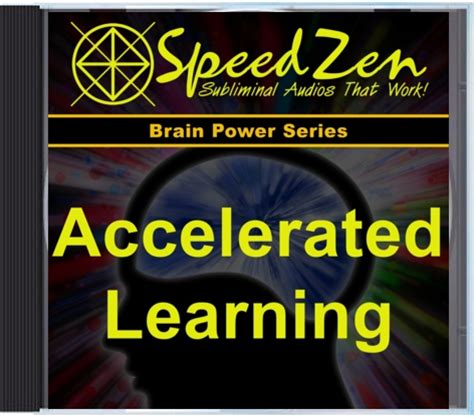 accelerated learning memory improvement brain and intelligence boosters 8 in 1 books accelerated learning subliminal cd speedzen