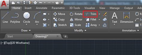 autocad tutorial trim command broodacad using the trim command in autocad