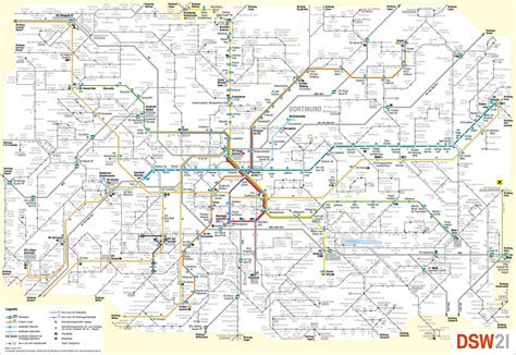 dortmund map of germany dortmund transport map